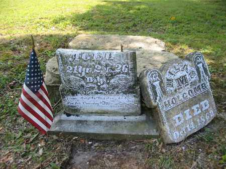 HOLCOMB, HILAS M. - Gallia County, Ohio   HILAS M. HOLCOMB - Ohio Gravestone Photos