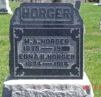 HORGER, M. A. - Gallia County, Ohio | M. A. HORGER - Ohio Gravestone Photos