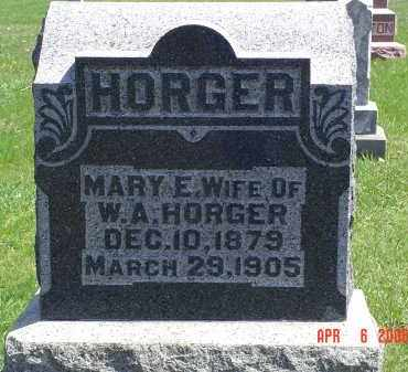 HORGER, MARY E. - Gallia County, Ohio | MARY E. HORGER - Ohio Gravestone Photos