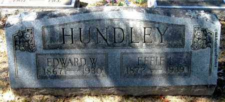 HUNDLEY, EFFIE L - Gallia County, Ohio | EFFIE L HUNDLEY - Ohio Gravestone Photos