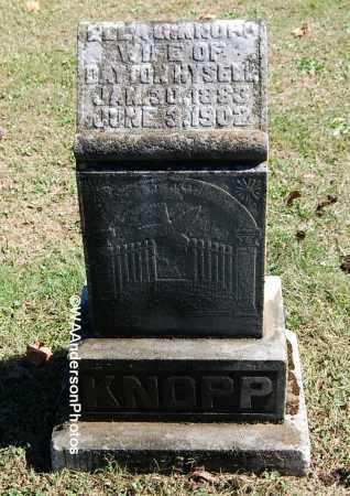 KNOPP HYSELL, ELLA G - Gallia County, Ohio | ELLA G KNOPP HYSELL - Ohio Gravestone Photos