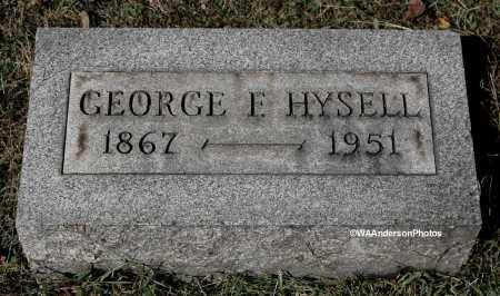 HYSELL, GEORGE FRANKLIN - Gallia County, Ohio   GEORGE FRANKLIN HYSELL - Ohio Gravestone Photos