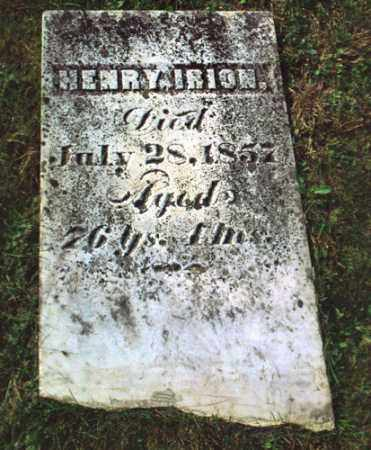 IRION, HENRY - Gallia County, Ohio   HENRY IRION - Ohio Gravestone Photos