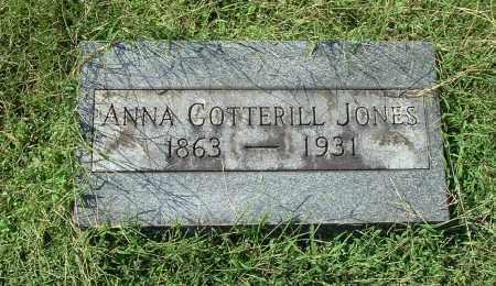 COTTERILL JONES, ANNA - Gallia County, Ohio | ANNA COTTERILL JONES - Ohio Gravestone Photos