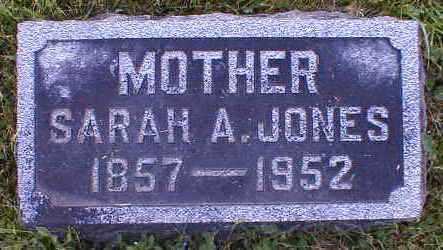 JONES, SARAH - Gallia County, Ohio | SARAH JONES - Ohio Gravestone Photos