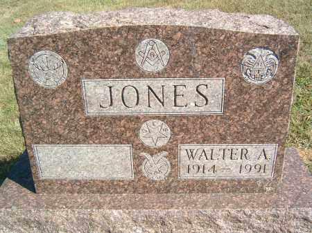 JONES, WALTER A - Gallia County, Ohio   WALTER A JONES - Ohio Gravestone Photos