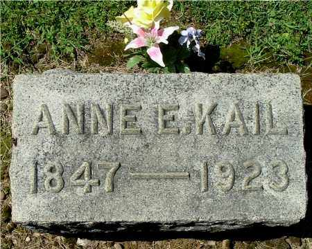 KAIL, ANNE E - Gallia County, Ohio | ANNE E KAIL - Ohio Gravestone Photos