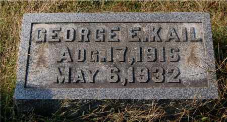 KAIL, GEORGE E - Gallia County, Ohio | GEORGE E KAIL - Ohio Gravestone Photos