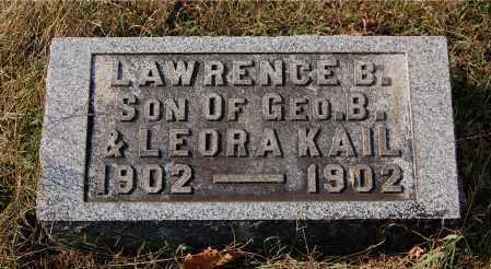 KAIL, LAWRENCE B - Gallia County, Ohio | LAWRENCE B KAIL - Ohio Gravestone Photos