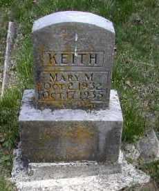 KEITH, MARY M. - Gallia County, Ohio   MARY M. KEITH - Ohio Gravestone Photos