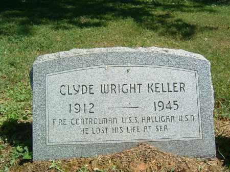 KELLER, CLYDE WRIGHT - Gallia County, Ohio   CLYDE WRIGHT KELLER - Ohio Gravestone Photos