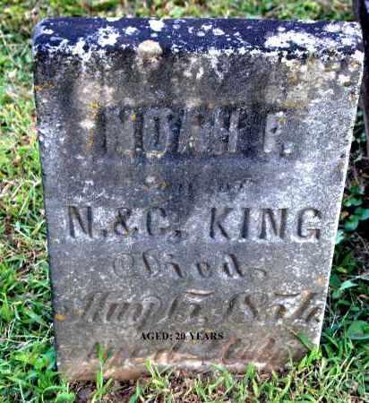 KING, NOAH F - Gallia County, Ohio | NOAH F KING - Ohio Gravestone Photos