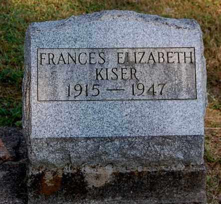 KISER, FRANCES ELIZABETH - Gallia County, Ohio   FRANCES ELIZABETH KISER - Ohio Gravestone Photos
