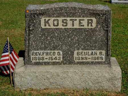 KOSTER, BEULAH B - Gallia County, Ohio | BEULAH B KOSTER - Ohio Gravestone Photos