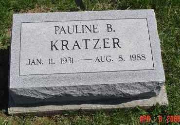 KRATZER, PAULINE B. - Gallia County, Ohio   PAULINE B. KRATZER - Ohio Gravestone Photos
