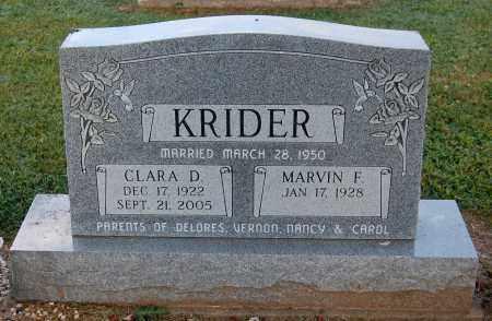KRIDER, CLARA D - Gallia County, Ohio | CLARA D KRIDER - Ohio Gravestone Photos