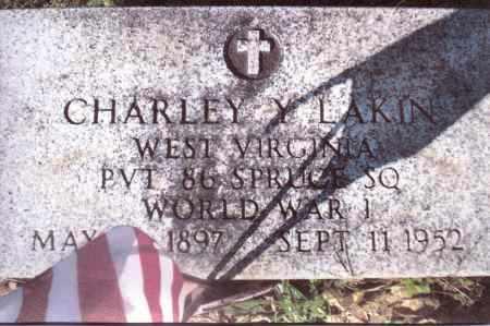 LAKIN, CHARLEY Y. - Gallia County, Ohio   CHARLEY Y. LAKIN - Ohio Gravestone Photos