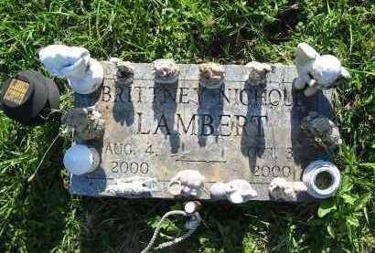 LAMBERT, BRITTNEY NICHOLE - Gallia County, Ohio | BRITTNEY NICHOLE LAMBERT - Ohio Gravestone Photos