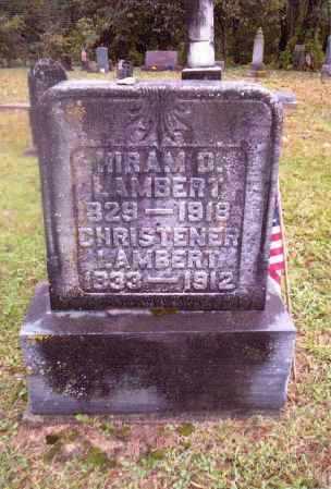 LAMBERT, HIRAM DAVIS - Gallia County, Ohio   HIRAM DAVIS LAMBERT - Ohio Gravestone Photos