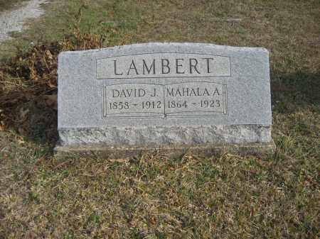 LAMBERT, DAVID J. - Gallia County, Ohio | DAVID J. LAMBERT - Ohio Gravestone Photos