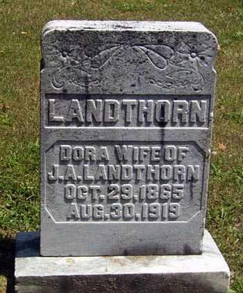 WEATHERHOLT LANDTHORN, DORA - Gallia County, Ohio   DORA WEATHERHOLT LANDTHORN - Ohio Gravestone Photos