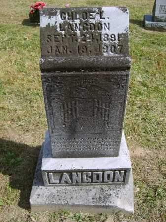 LANGDON, CHLOE - Gallia County, Ohio | CHLOE LANGDON - Ohio Gravestone Photos