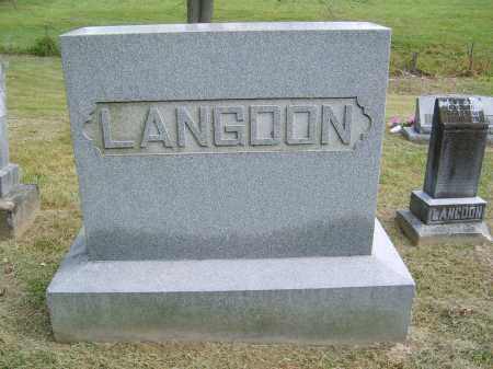 LANGDON, NONE - Gallia County, Ohio | NONE LANGDON - Ohio Gravestone Photos
