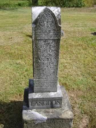LANGDON, SEREPTA - Gallia County, Ohio | SEREPTA LANGDON - Ohio Gravestone Photos