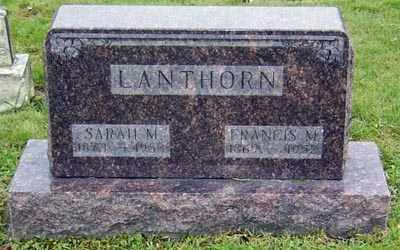 LANTHORN, FRANCES MARION - Gallia County, Ohio | FRANCES MARION LANTHORN - Ohio Gravestone Photos