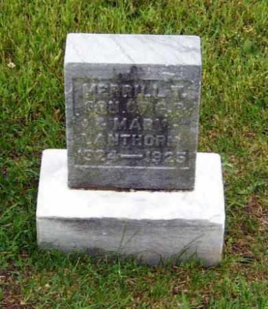 LANTHORN, MERRILL T. - Gallia County, Ohio | MERRILL T. LANTHORN - Ohio Gravestone Photos