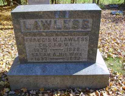 LAWLESS, FRANCIS - Gallia County, Ohio   FRANCIS LAWLESS - Ohio Gravestone Photos