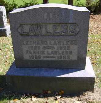 LAWLESS, LEONARD - Gallia County, Ohio | LEONARD LAWLESS - Ohio Gravestone Photos