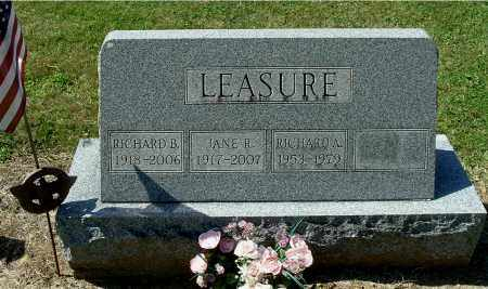 LEASURE, RICHARD A - Gallia County, Ohio | RICHARD A LEASURE - Ohio Gravestone Photos