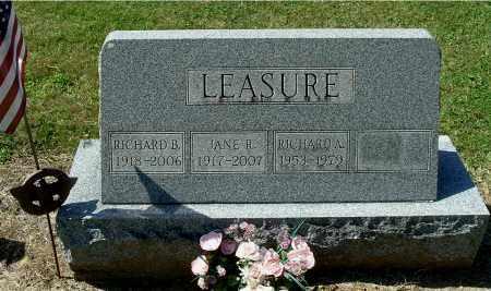 LEASURE, RICHARD B - Gallia County, Ohio | RICHARD B LEASURE - Ohio Gravestone Photos