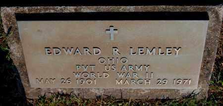 LEMLEY, EDWARD R - Gallia County, Ohio | EDWARD R LEMLEY - Ohio Gravestone Photos