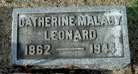 LEONARD, CATHERINE - Gallia County, Ohio   CATHERINE LEONARD - Ohio Gravestone Photos