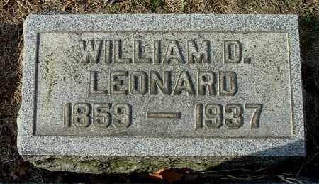 LEONARD, WILLIAM D - Gallia County, Ohio | WILLIAM D LEONARD - Ohio Gravestone Photos