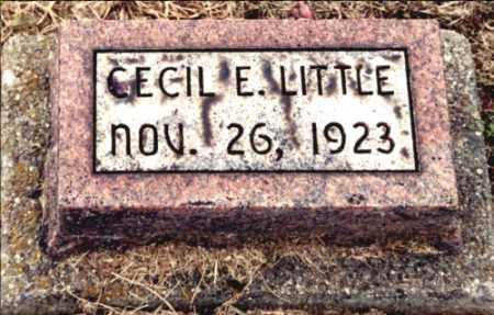 LITTLE, CECIL E - Gallia County, Ohio   CECIL E LITTLE - Ohio Gravestone Photos