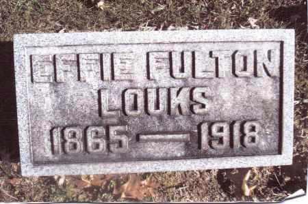LOUKS, EFFIE - Gallia County, Ohio | EFFIE LOUKS - Ohio Gravestone Photos