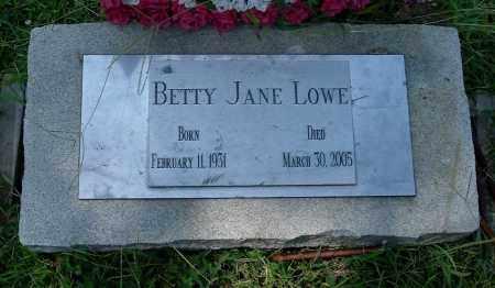 LOWE, BETTY JANE - Gallia County, Ohio | BETTY JANE LOWE - Ohio Gravestone Photos