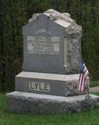 WHITMAN LYLE, JENNIE - Gallia County, Ohio | JENNIE WHITMAN LYLE - Ohio Gravestone Photos