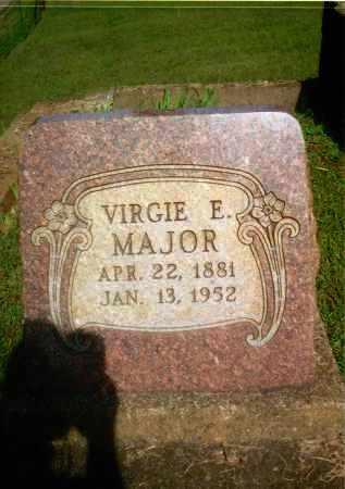 MAJOR, VIRGIE E. - Gallia County, Ohio   VIRGIE E. MAJOR - Ohio Gravestone Photos