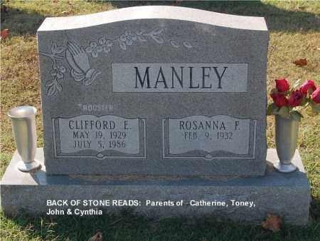 MANLEY, ROSANNA F. - Gallia County, Ohio   ROSANNA F. MANLEY - Ohio Gravestone Photos