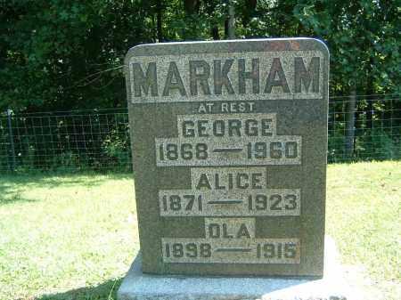 MARKHAM, GEORGE - Gallia County, Ohio | GEORGE MARKHAM - Ohio Gravestone Photos