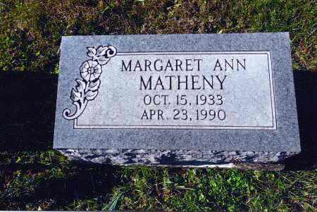 MATHENY, MARGARET ANN - Gallia County, Ohio | MARGARET ANN MATHENY - Ohio Gravestone Photos