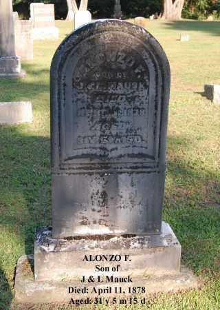 MAUCK, ALONZO F - Gallia County, Ohio   ALONZO F MAUCK - Ohio Gravestone Photos