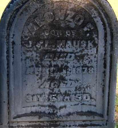 MAUCK, ALONZO F - Gallia County, Ohio | ALONZO F MAUCK - Ohio Gravestone Photos