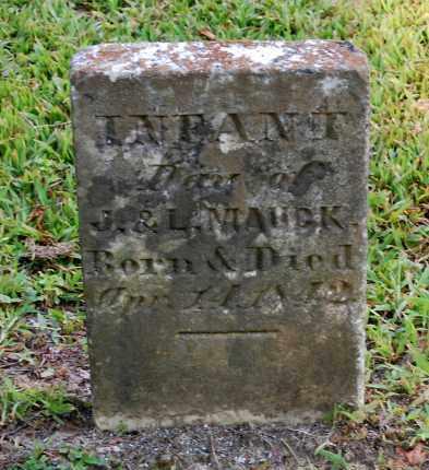 MAUCK, INFANT DAU - Gallia County, Ohio | INFANT DAU MAUCK - Ohio Gravestone Photos