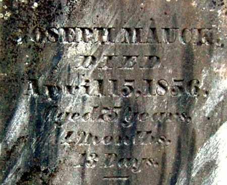 MAUCK, JOSEPH (CLOSE-UP) - Gallia County, Ohio | JOSEPH (CLOSE-UP) MAUCK - Ohio Gravestone Photos