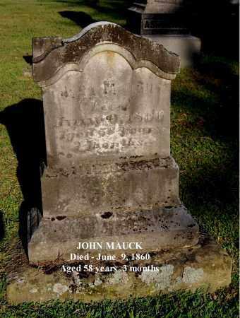 MAUCK, JOHN - Gallia County, Ohio   JOHN MAUCK - Ohio Gravestone Photos